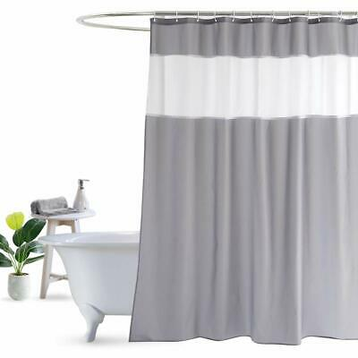 Shower Curtain Grey And White By Ufriday Modern Fabric 48 X 72 Inch New