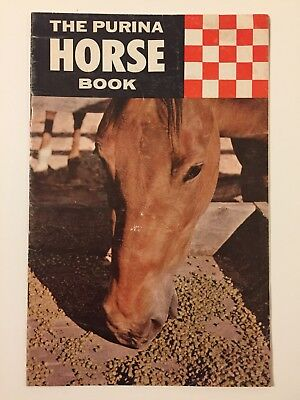 Vintage 1960s Purina Horse Book Booklet Feeding Pet Food Chow Livestock Checkers