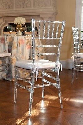 100 Ice Chivari Chairs with ivory seatpad for HIRE ONLY
