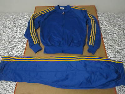 Bonnie Sportswear yellow and blue tracksuit track jacket pants sweat suit vtg