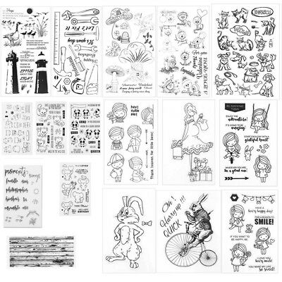 Transparent Clear Silicone Rubber Stamp Cling Diary Scrapbooking Card DIY Decor
