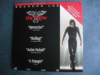 THE    CROW   >>  BRANDON    LEE   >>  ACTiON  >> LASERDiSC  >> GOOD   CONDiTiON