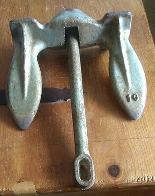 Vintage 10 lb. Cast Iron Boat or Ship Anchor for your Collection