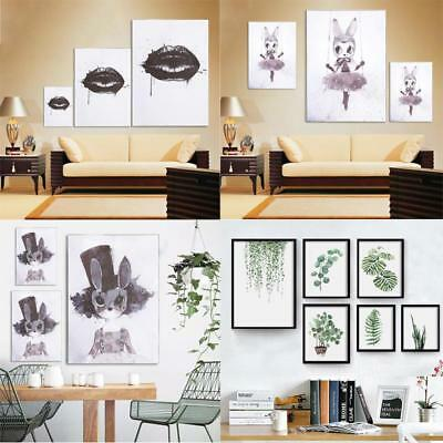 Plants Leaves Canvas Wall Art Printing Poster Modern Home Room Office Decor