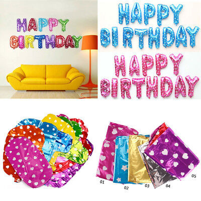 LARGE BANNER HAPPY BIRTHDAY SELF INFLATING BALLON BUNTING PARTY/DECORATION in UK