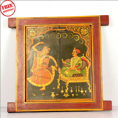 Wooden Handcrafted Scenery Beautiful Hand Painted Picture Wall Window 9653