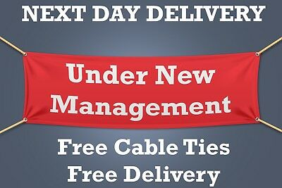 Under New Management PVC Banner OUTDOOR SIGN Retail - NEXT DAY DELIVERY