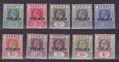 Gambia Gambia SG108s/17s in Very fine mint condition SPECIMEN