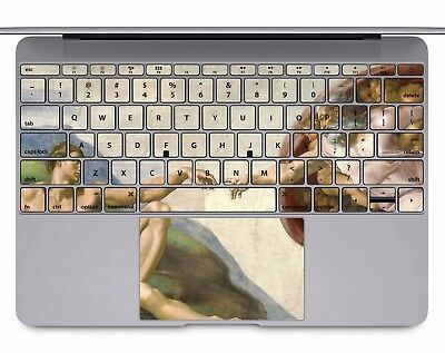 Macbook Pro Air 13 15 keyboard Stickers cover Decal Skins creation of Adam KB029