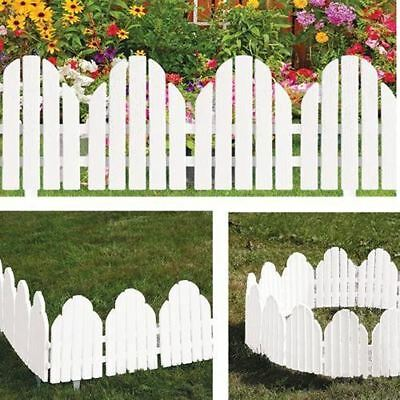 Adirondack Style Plastic Garden Fence Panels Lawn Border Plant Flower Edging New