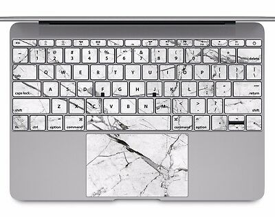 Macbook Pro Air 13 15 keyboard Stickers cover Decal skins white marble KB331