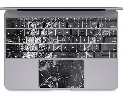 Macbook Pro Air 13 15 keyboard Stickers cover Decal skins cracked glass KB501