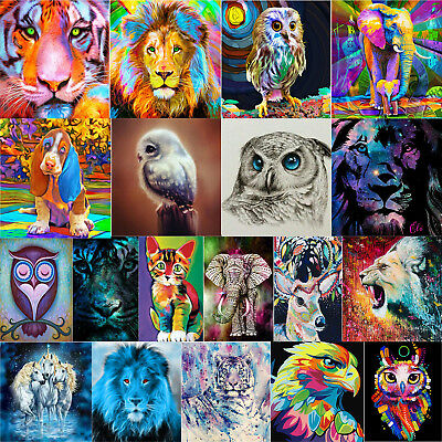 5D Colorful Animal DIY Full/Partial Diamond Painting Art Cross Stitch Home Decor
