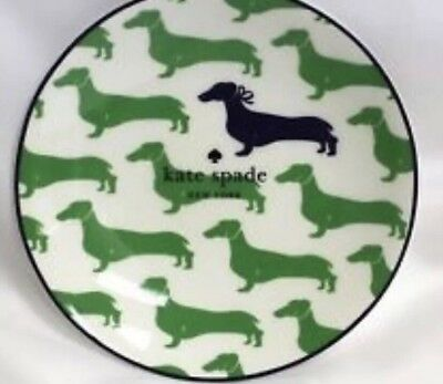 Kate Spade New York By Lenox Wickford Dachshund Set Of 4 Tidbit Plates & WIENER DOG KATE SPADE NEW YORK/LENOX WICKFORD DACHSHUND SET Of 4 ...