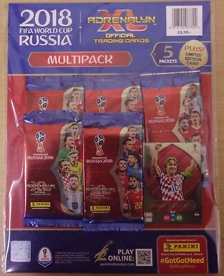 Fifa World Cup Russia 2018 Panini Adrenalyn XL ~ Multipack Inc Luka Modric