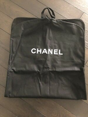 2bf5eb4f02b0 New Authentic Chanel Large Black Canvas Travel Garment Bag For Coats &  Dresses