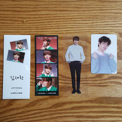 Kim Jae Hwan Lotteria New Promotion Official 3 Photocards Set Wanna One 101