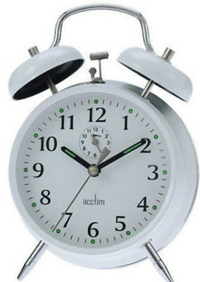 Traditional Bedside Keywound Alarm Clock Acctim Double Bell Wind Up Alarm Clock
