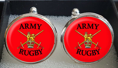 Army or Navy Rugby Cufflinks - A Great Gift