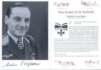 SPGL19 German Luftwaffe photo signed PIPAN KC Ju87 Stuka pilot