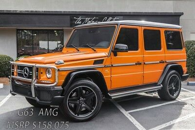 2015 Mercedes-Benz G-Class G63 AMG MSRP $158,075.00 1-OWNER CLEAN CARFAX CERTIFIED! ONLY 5K MILES!