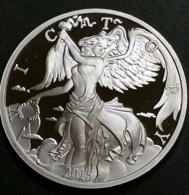 2015 Goddess Nike 1 Troy Oz .999 Solid Silver Modern Ancients Round Coin Sale