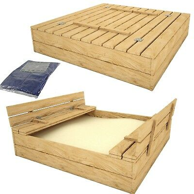 sandkasten holz spielhaus sandbox sandkiste buddelkiste holzsandkiste mit dach eur 52 95. Black Bedroom Furniture Sets. Home Design Ideas
