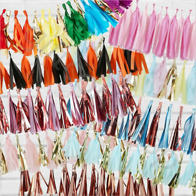 Tissue Paper Tassel Garland Bunting Wedding Baby Shower Party Hanging Decoration