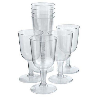 Plastic Wine Glasses Champagne Flutes Wedding Party Disposable Cups Clear 12 PCs
