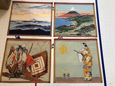 Asian Oriental Handmade Unique Wall Art  ~ 4 pieces