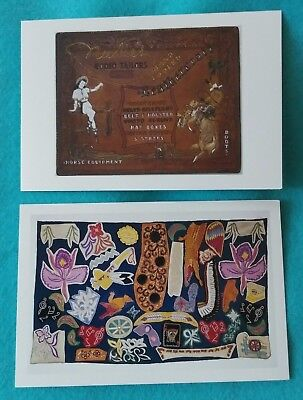 Lot of 2 postcards from the Autry Collection Nudie's Rodeo Tailors sign samples