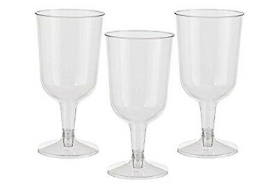 Plastic Wine Glasses Champagne Flutes Wedding Party Disposable Cups Clear x120
