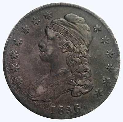 1836 50C Capped Bust Half Dollar