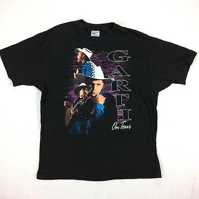 Vintage 90s GARTH BROOKS On Tour T-Shirt Sz XL USA Made Hanes 1992 Country Music