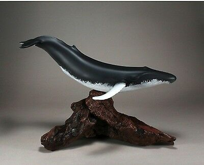 HUMPBACK WHALE Sculpture New direct from JOHN PERRY 24in long Statue