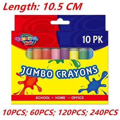 Jumbo Size Extra Thick Crayon Crayons Assorted Colors Kid Craft Gift Drawing Wmc