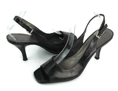 b0b64f2586f Tahari Robin Women s Black Patent Leather Open Toe Slingback Pumps US Size  8.5 M
