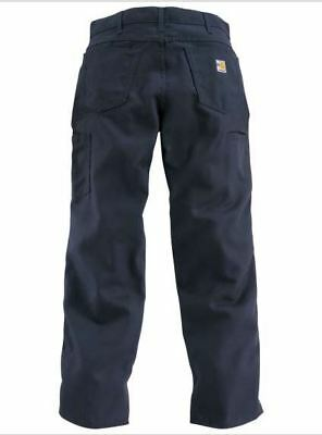 NEW 38W x 34L Carhartt Men's Flame-Resistant Canvas Jeans BLUE Navy FRB159DNY
