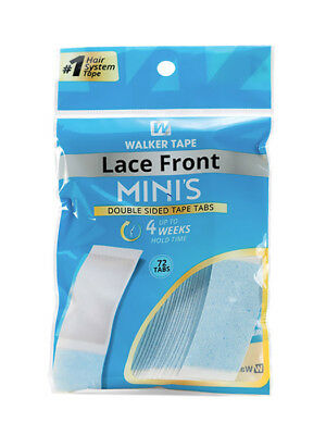 Walker Lace Front Minis - Double Sided Mini Hair Tape Tabs for Wig / Hairpiece