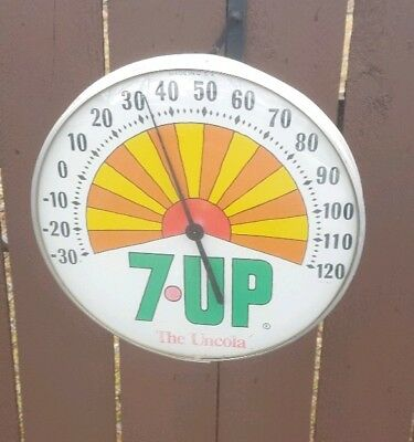 Vintage 1971  7 Up The Uncola Sun Ray Soda Thermometer  Working 7-Up Thermometer