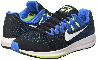 newest 71d24 e802b Men s Nike Air Zoom Structure 20 Running Shoes, 849576 004 Size 9 Black Wh