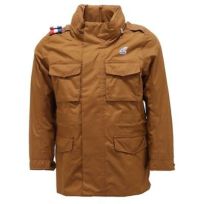 0184S giubbotto bimbo K-WAY giacca antivento marrone brown jacket kid