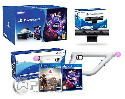 PlayStation VR + Farpoint + Aim-Controller PS4 + VR Worlds + PS4 Camera V2