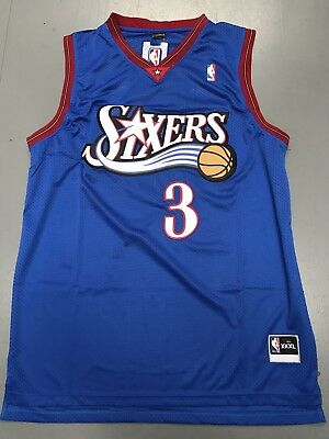 the latest 54fee fbbbd PHILADELPHIA SIXERS ALLEN Iverson Vintage jersey, blue color ...