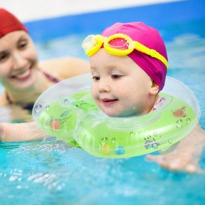 Baby Aids Infant Swimming Neck Float Inflatable Tube Ring Safety New Neck  #Y
