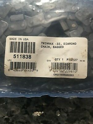 3  ICS TWINMAX 32 Diamond Chain 14in. bagged  new & sealed item