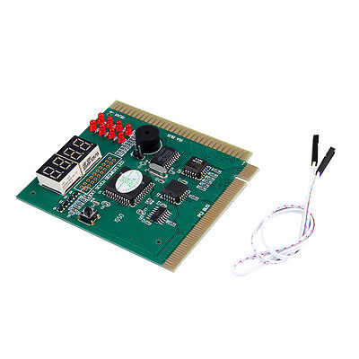 4-Digits Analysis Diagnostic Motherboard Tester Desktop PCI Express Card uY