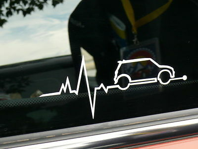 MINI ECG Heartbeat Cooper S Car Decal Sticker One D Works BMW Clubman