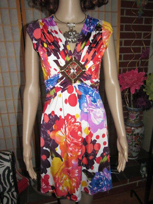 Lot of 3 Items Women Chic Quality Flared Hot Colorful Slim Summer Dress SZ S-M