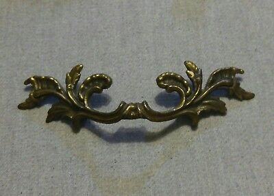 "French Provincial Drawer Pull Belwith Brass 3"" Bore Gold 10219 Leafy Ornate L@@K"